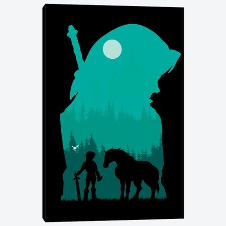 Hylian Silhouette Canvas Print #DOI405} by Denis Orio Ibañez Canvas Print
