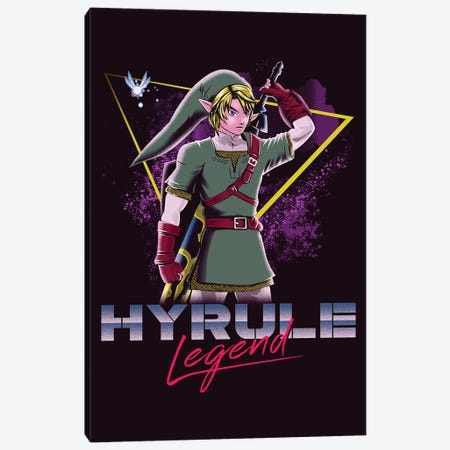 Hyrule Legend Canvas Print #DOI406} by Denis Orio Ibañez Canvas Art Print