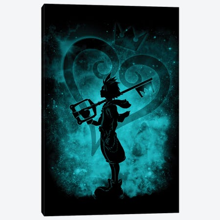 Heart Silhouette Canvas Print #DOI423} by Denis Orio Ibañez Canvas Wall Art