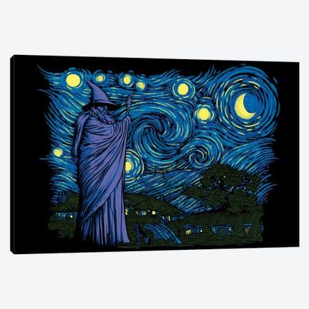 Starry Hobbiton Canvas Print #DOI428} by Denis Orio Ibañez Canvas Wall Art