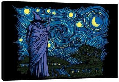 Starry Hobbiton Canvas Art Print