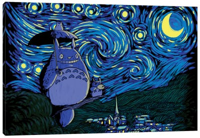 Starry Neighbor Canvas Art Print