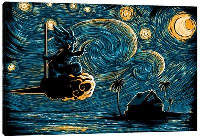 Starry Saiyan Canvas Art Print