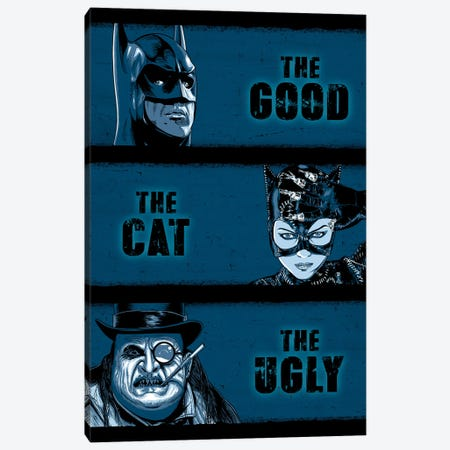 The Good The Cat And The Ugly 3-Piece Canvas #DOI432} by Denis Orio Ibañez Canvas Art Print