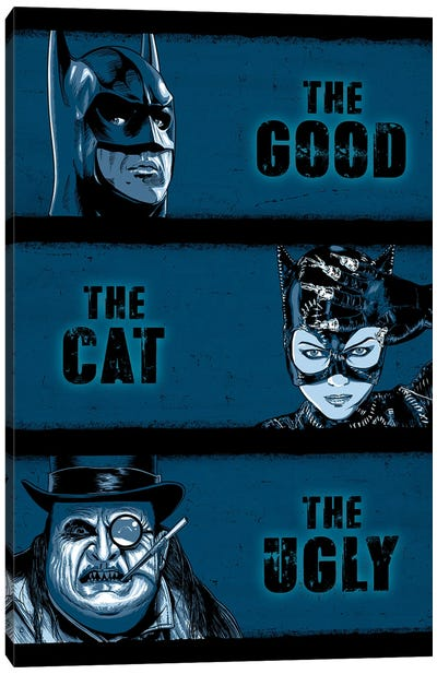 The Good The Cat And The Ugly Canvas Art Print