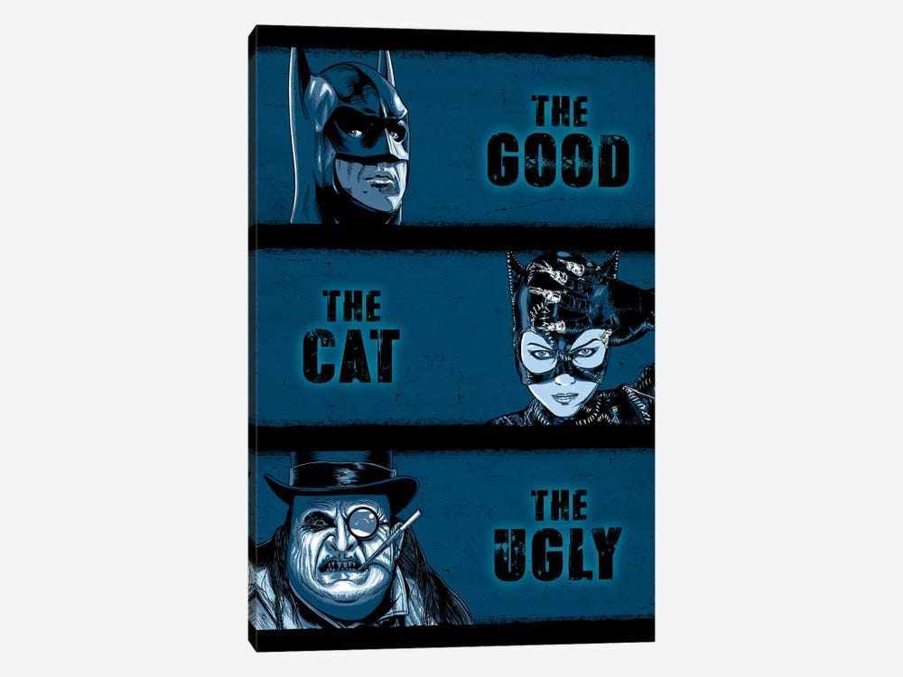 The Good The Cat And The Ugly by Denis Orio Ibañez 1-piece Canvas Wall Art