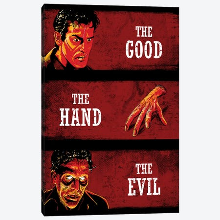 The Good The Hand And The Evil Canvas Print #DOI434} by Denis Orio Ibañez Canvas Art