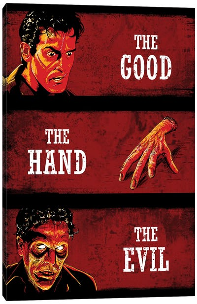The Good The Hand And The Evil Canvas Art Print