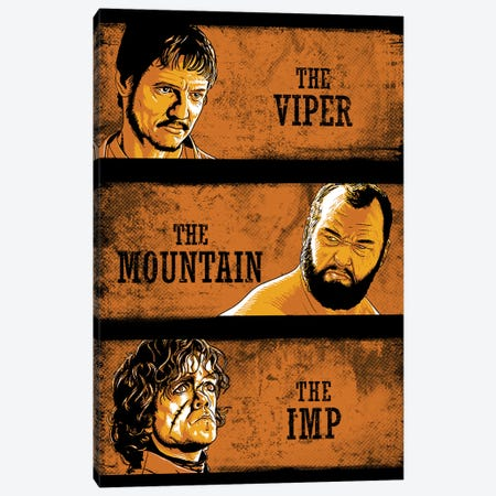 The Viper, The Mountain And The Imp Canvas Print #DOI435} by Denis Orio Ibañez Canvas Artwork