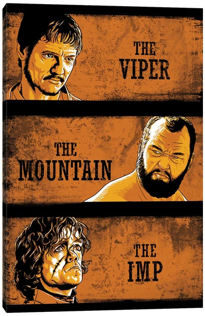 The Viper, The Mountain And The Imp Canvas Art Print