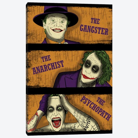 Types Of Clowns Canvas Print #DOI436} by Denis Orio Ibañez Canvas Art