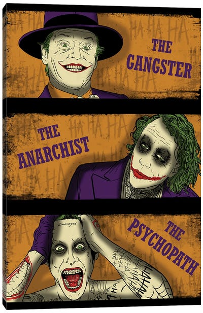 Types Of Clowns Canvas Art Print