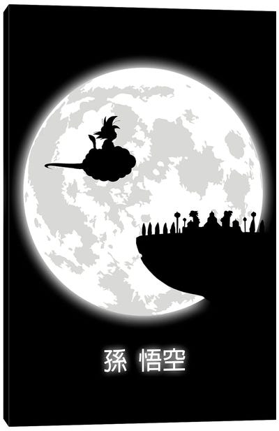 Don't Look At The Full Moon Canvas Art Print