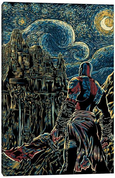 Starry Olympus Canvas Art Print