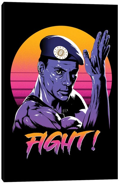 Fight! Canvas Art Print
