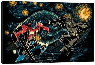 Starry Battle Canvas Art Print
