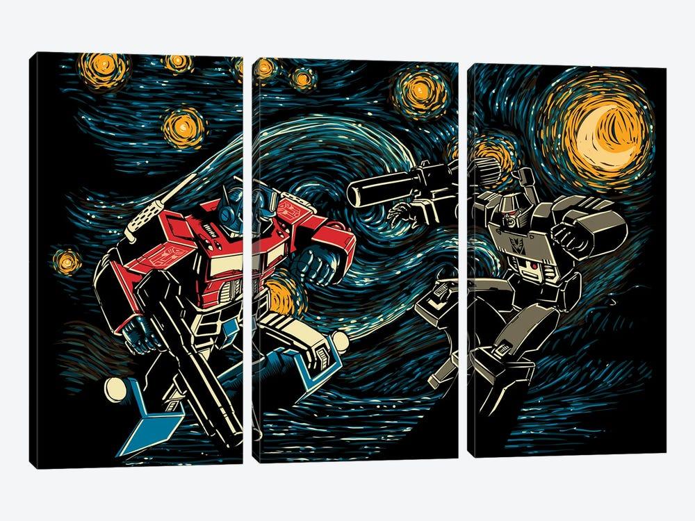 Starry Battle by Denis Orio Ibañez 3-piece Canvas Art