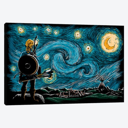 Starry Breath Canvas Print #DOI475} by Denis Orio Ibañez Canvas Artwork
