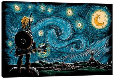 Starry Breath Canvas Art Print