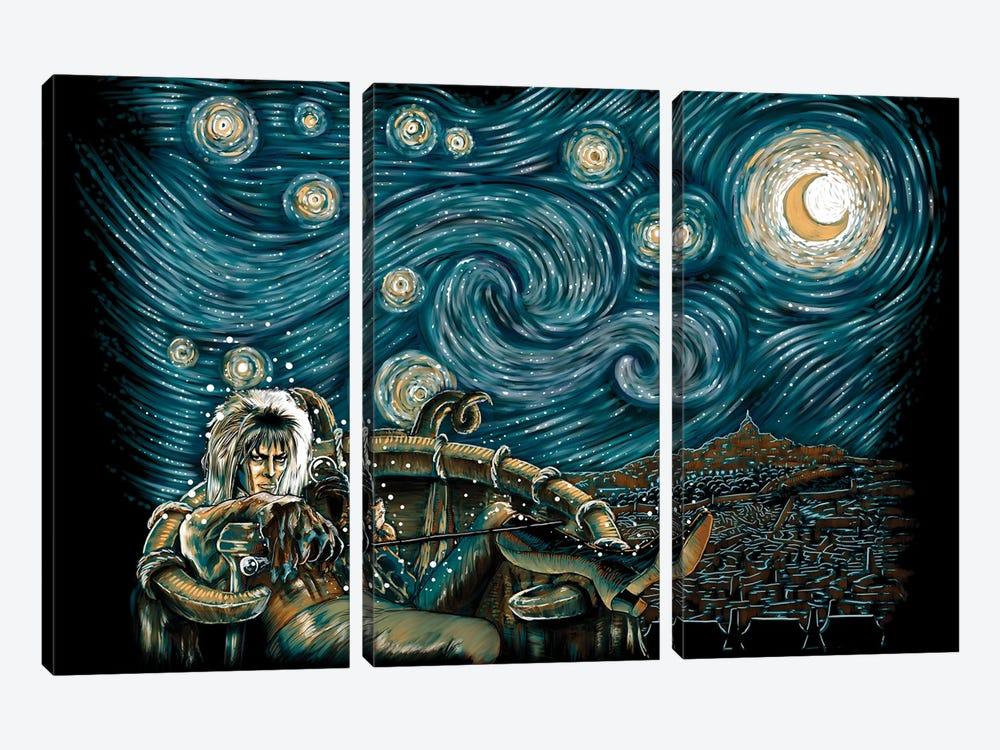 Starry Labyrinth by Denis Orio Ibañez 3-piece Canvas Art