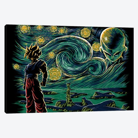 Starry Namek Canvas Print #DOI479} by Denis Orio Ibañez Canvas Print