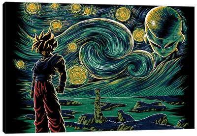 Starry Namek Canvas Art Print