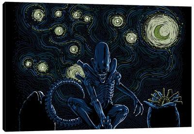 Starry Xenomorph Canvas Art Print