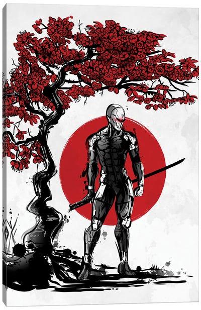 Cyborg Ninja Under The Sun Canvas Art Print