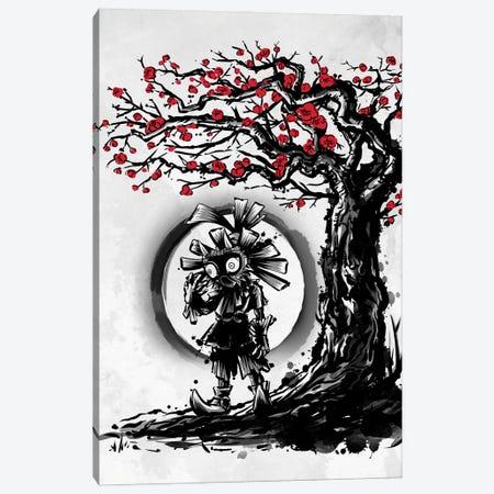 Mask Under The Moon Canvas Print #DOI488} by Denis Orio Ibañez Canvas Wall Art