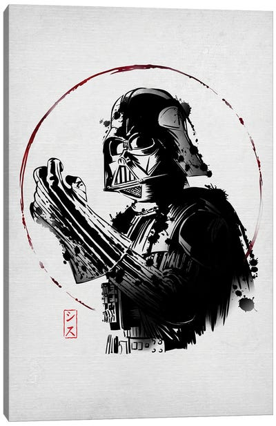 Ink Dark Lord Canvas Art Print