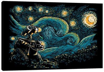 Starry Robot Canvas Art Print