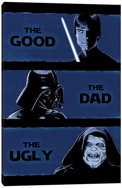The Good, The Dad, And The Ugly Canvas Art Print