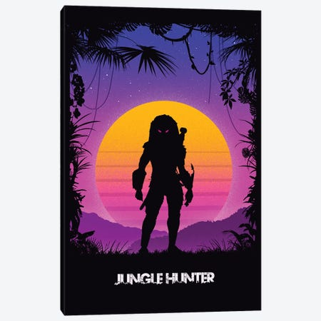 Jungle Hunter Predator Canvas Print #DOI55} by Denis Orio Ibañez Canvas Wall Art