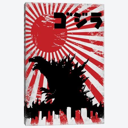King Kaiju Canvas Print #DOI60} by Denis Orio Ibañez Canvas Art