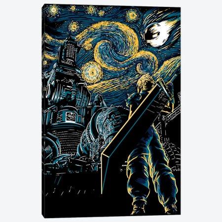 Starry Remake 3-Piece Canvas #DOI87} by Denis Orio Ibañez Art Print