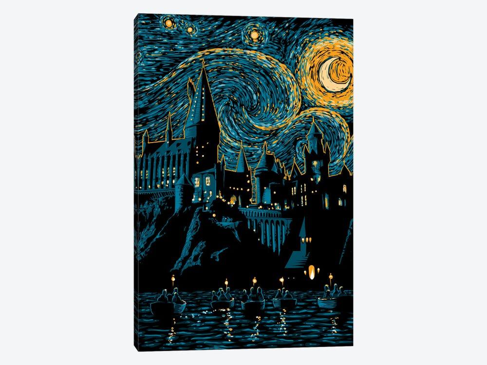 Starry School by Denis Orio Ibañez 1-piece Canvas Artwork