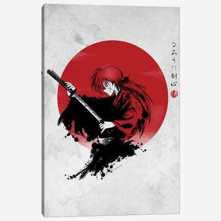 Rurouni Canvas Print #DOI89} by Denis Orio Ibañez Canvas Art
