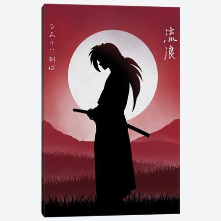 Rurouni Samurai Canvas Print #DOI90} by Denis Orio Ibañez Canvas Print