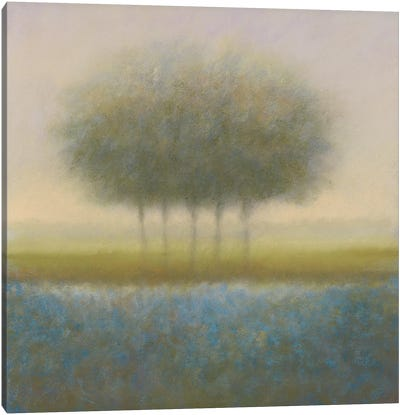 Blue Group Of Trees Canvas Art Print