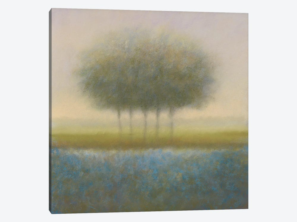 Blue Group Of Trees by Hans Dolieslager 1-piece Canvas Art Print