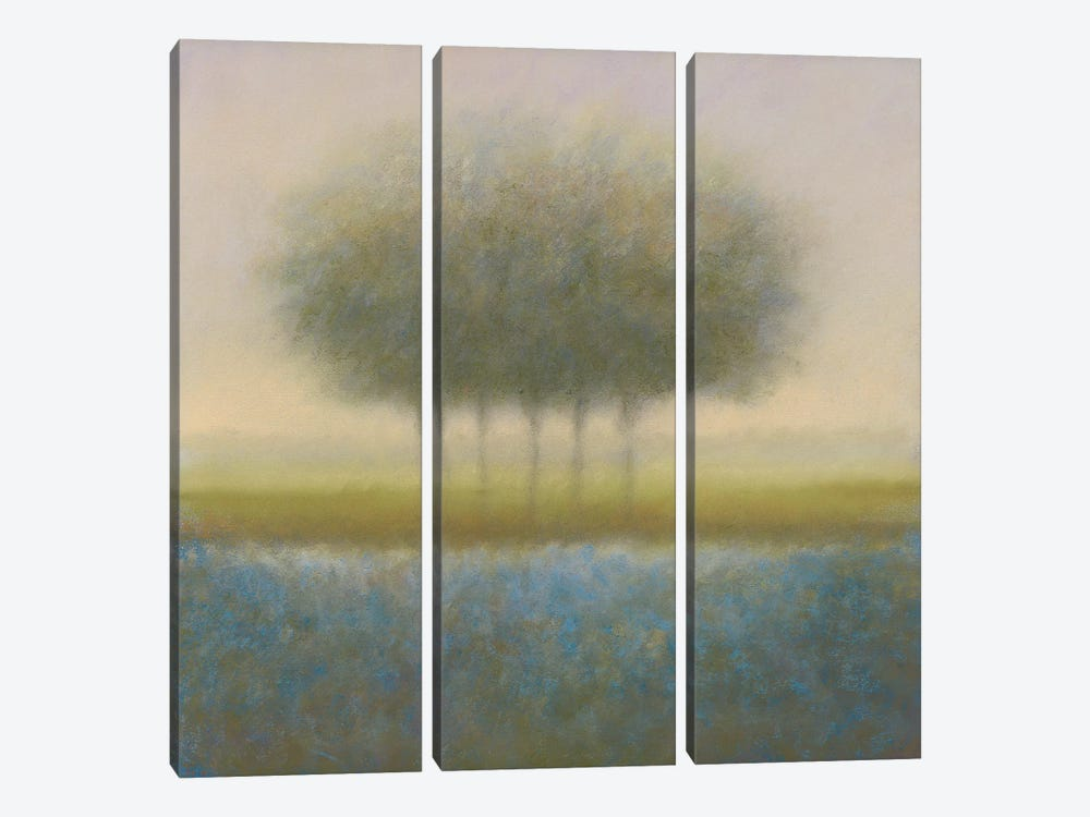 Blue Group Of Trees by Hans Dolieslager 3-piece Canvas Art Print