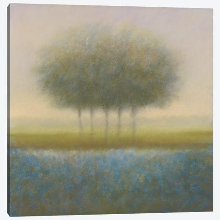 Blue Group Of Trees 3-Piece Canvas #DOL2} by Hans Dolieslager Art Print
