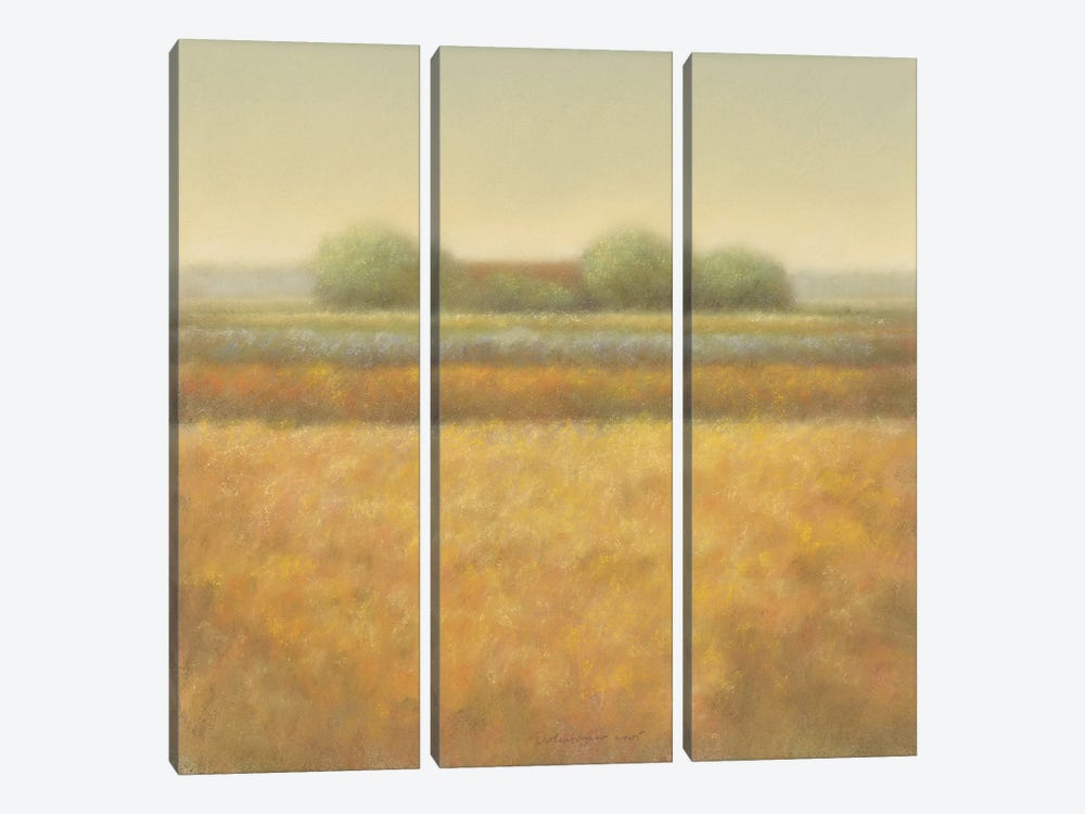 Grey Group Of Trees by Hans Dolieslager 3-piece Art Print