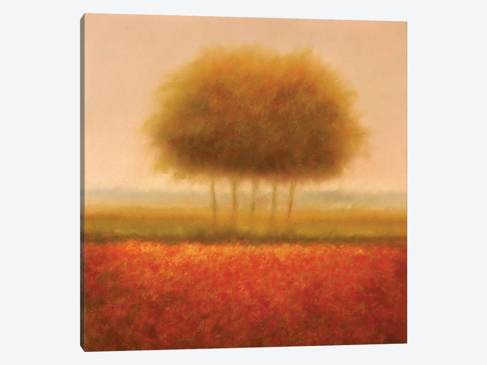 Orange Group Of Trees by Hans Dolieslager 1-piece Canvas Art