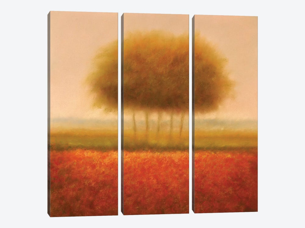 Orange Group Of Trees by Hans Dolieslager 3-piece Canvas Artwork