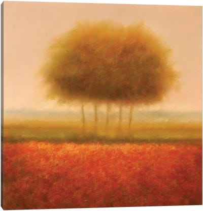 Orange Group Of Trees Canvas Art Print
