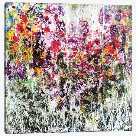 Purple And Flowers Canvas Print #DOM101} by Donatella Marraoni Canvas Art