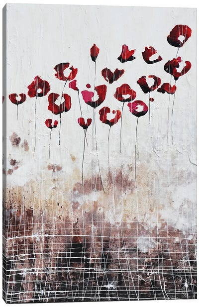 Love Poppies And Memories Canvas Art Print