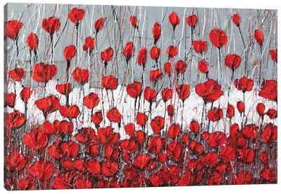 Poppies Landscape Canvas Art Print