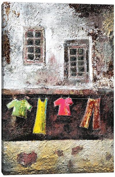 Io Resto A Casa Canvas Art Print